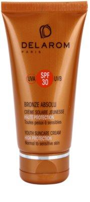 Delarom Bronze Absolu подмладяващ защитен дневен крем SPF 30
