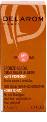 Delarom Bronze Absolu creme de dia protetor rejuvenescedor SPF 30 2