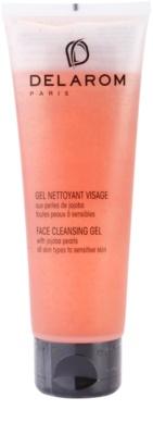 Delarom Cleaning and Removing gel facial de limpeza com pérolas de jojoba
