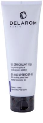 Delarom Cleaning and Removing Abschmink-Gel für die Augen mit Pfingstrosen-Softer