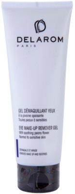Delarom Cleaning and Removing gel desmaquilhante de olhos com peónia suavizante