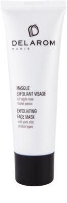 Delarom Essential masca exfolianta cu argila roz pentru fata