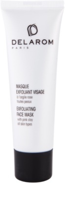 Delarom Essential mascarilla facial exfoliante de arcilla rosa