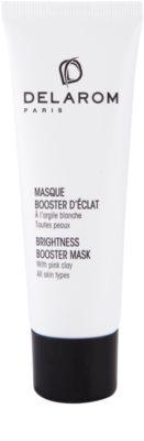 Delarom Essential máscara facial iluminadora com argila branca