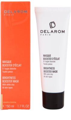 Delarom Essential aufhellende Maske für die Haut mit weißem Ton 1