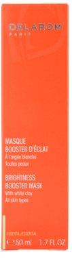 Delarom Essential aufhellende Maske für die Haut mit weißem Ton 3