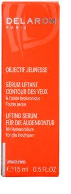 Delarom Lifting ser cu efect de lifting pentru conturul ochilor cu acid hialuronic 4