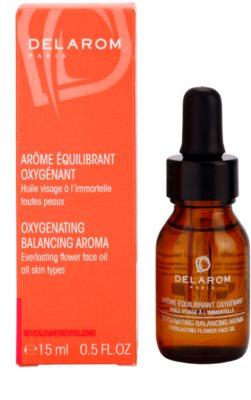 Delarom Revitalizing oxigenizáló aroma vasvirágos arcolaj 1