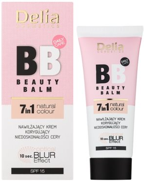 Delia Cosmetics Optical Blur Effect Beauty Balm BB creme hidratante contra imperfeições SPF 15 1