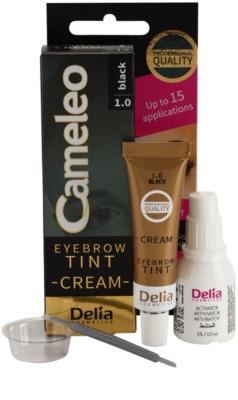Delia Cosmetics Cameleo Coloração cremosa profissional para sobrancelhas sem amoníaco 1