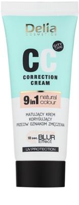 Delia Cosmetics Optical Blur Effect Correction Cream CC creme matificante contra sintomas de fadiga
