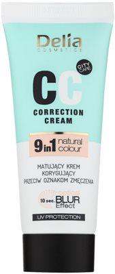 Delia Cosmetics Optical Blur Effect Correction Cream matujący krem CC przeciw oznakom zmęczenia