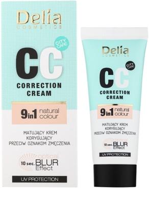 Delia Cosmetics Optical Blur Effect Correction Cream матиращ СС крем против признаци на умора 1