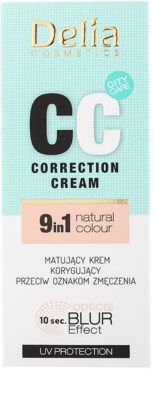 Delia Cosmetics Optical Blur Effect Correction Cream матиращ СС крем против признаци на умора 2