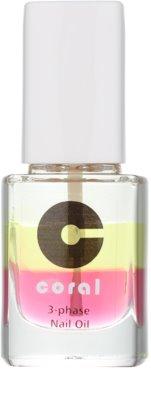 Delia Cosmetics Coral Drei-Phasen-Öl für Nägel und Nagelhaut