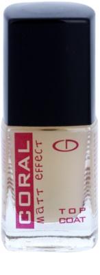 Delia Cosmetics Coral mattierender Schutzlack für die Fingernägel