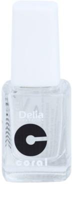 Delia Cosmetics Coral lac de unghii intaritor cu pulbere de diamante