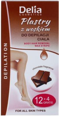 Delia Cosmetics Depilation Chocolate Fragrance as bandas de cera para depilação para corpo