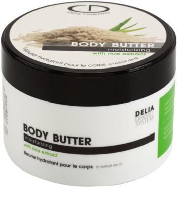 Delia Cosmetics Dermo System manteca corporal hidratante con extracto de arroz