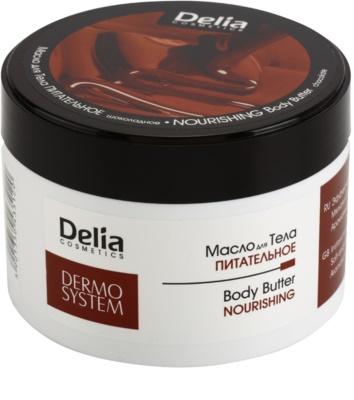 Delia Cosmetics Dermo System поживне масло для тіла з маслом ши та шоколадом