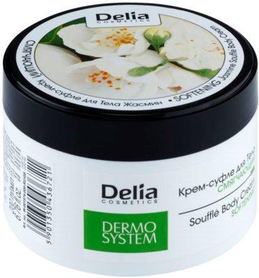 Delia Cosmetics Dermo System crema corporal suavizante con olor a jazmín