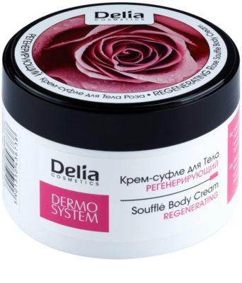 Delia Cosmetics Dermo System crema corporal regeneradora con olor a rosa