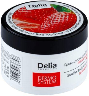 Delia Cosmetics Dermo System creme corporal nutritivo com aroma de morangos