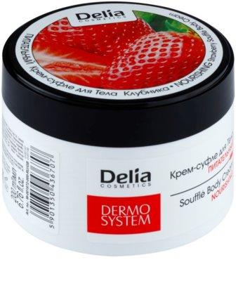 Delia Cosmetics Dermo System vyživujúci telový krém s vôňou jahôd