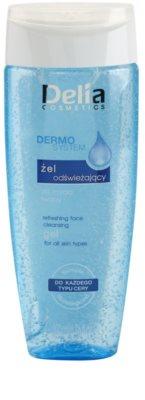 Delia Cosmetics Dermo System gel de limpeza para todos os tipos de pele