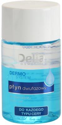 Delia Cosmetics Dermo System двуфазен лосион за грим за зоната около очите и устните