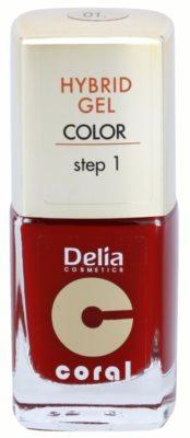 Delia Cosmetics Coral Nail Enamel Hybrid Gel gel lak za nohte