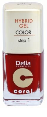 Delia Cosmetics Coral Nail Enamel Hybrid Gel żelowy lakier do paznokci