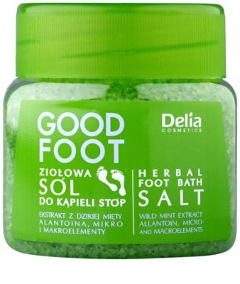 Delia Cosmetics Good Foot сіль для ніг на основі трав