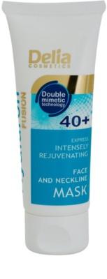Delia Cosmetics Hyaluron Fusion 40+ máscara intensiva de rejuvenescimento para pescoço e decote