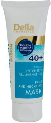 Delia Cosmetics Hyaluron Fusion 40+ інтенсивна омолоджуюча маска для шиї та декольте