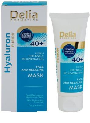 Delia Cosmetics Hyaluron Fusion 40+ intensive verjüngende Maske  für Hals und Dekolleté 1