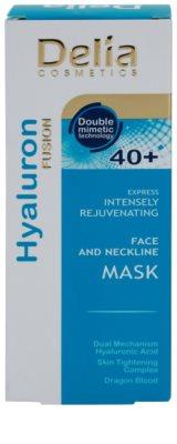 Delia Cosmetics Hyaluron Fusion 40+ intensive verjüngende Maske  für Hals und Dekolleté 2