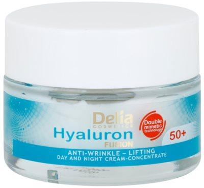 Delia Cosmetics Hyaluron Fusion 50+ crema antiarrugas reafirmante