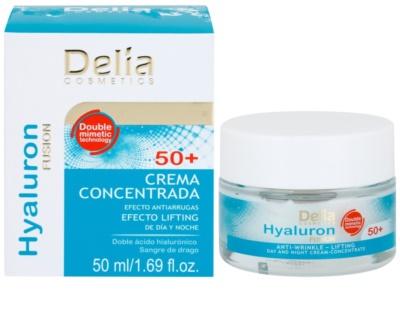 Delia Cosmetics Hyaluron Fusion 50+ učvrstitvena krema proti gubam 1