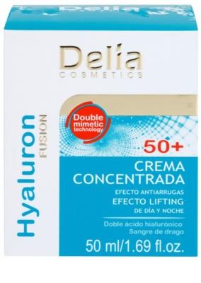 Delia Cosmetics Hyaluron Fusion 50+ učvrstitvena krema proti gubam 2