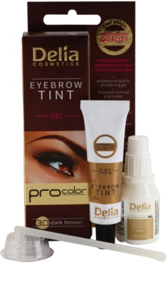 Delia Cosmetics Pro Color gel con color para cejas sin amoníaco 1
