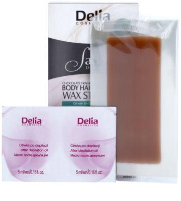 Delia Cosmetics Satine Depilation Chocolate Fragrance voskové depilační pásky na tělo 1