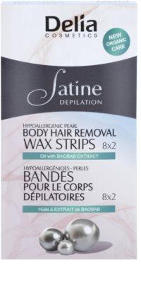 Delia Cosmetics Satine Depilation Hypoallergenic Pearl Enthaarungswachsstreifen für den Körper