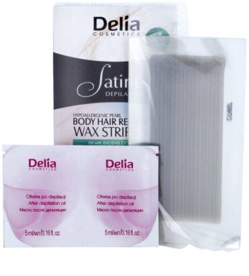 Delia Cosmetics Satine Depilation Hypoallergenic Pearl воскові смужки для депіляції для тіла 1