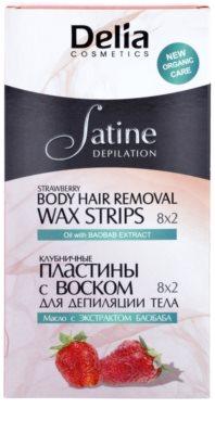 Delia Cosmetics Satine Depilation Strawberry Enthaarungswachsstreifen für den Körper