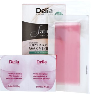 Delia Cosmetics Satine Depilation Strawberry depilacijski trakovi za telo 1
