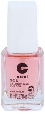 Delia Cosmetics Coral acondicionador para uñas con calcio para uñas frágiles