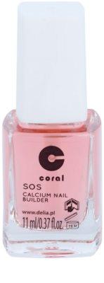 Delia Cosmetics Coral кондиціонер з вмістом кальцію для нігтів для ламких нігтів