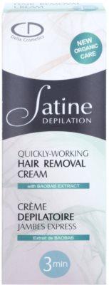 Delia Cosmetics Satine Depilation Quickly-Working Depilationscreme für die Beine