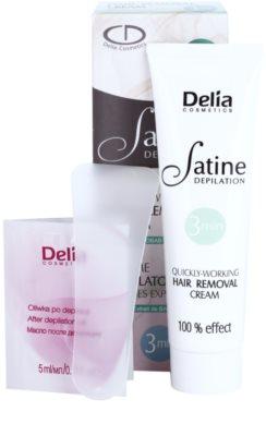 Delia Cosmetics Satine Depilation Quickly-Working Depilationscreme für die Beine 1